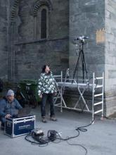 High-resolution scanning of eroded stone surfaces at the Nidaros Cathedral, Trondheim, Norway.
